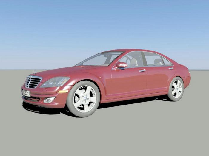 Mercedes-Benz S-Class 3d rendering