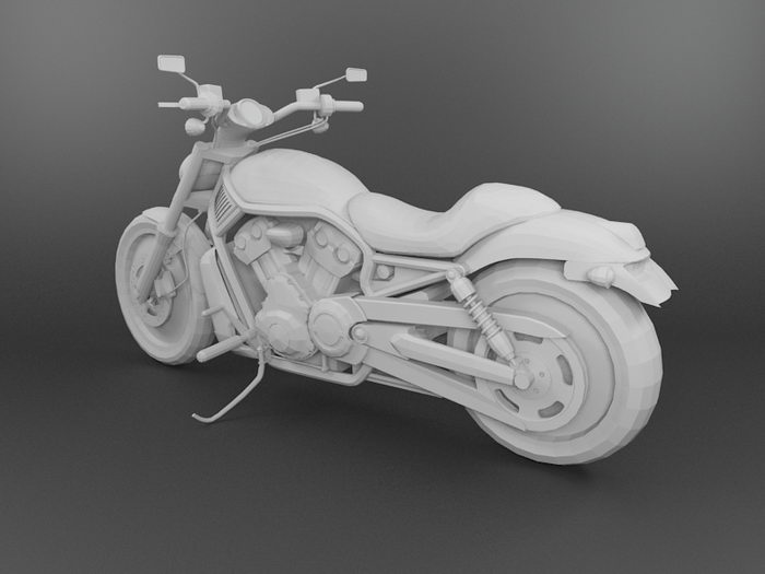 Motorcycle 3d rendering