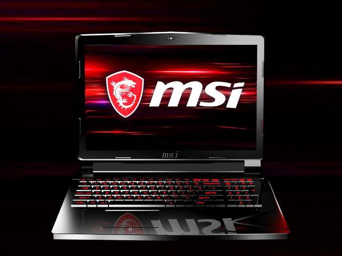 MSI Gaming Laptop 3d rendering