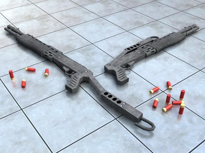 Franchi SPAS-12 Shotgun 3d rendering