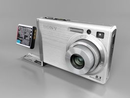 Sony Cyber-shot DSC-W90 3d preview