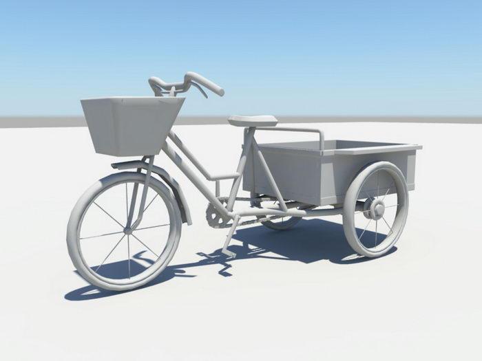 Industrial Trike 3d rendering