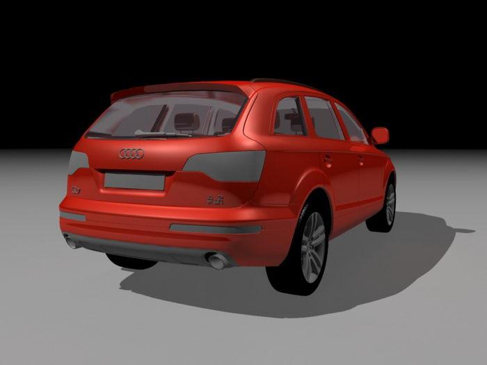Audi Q7 Red 3d rendering