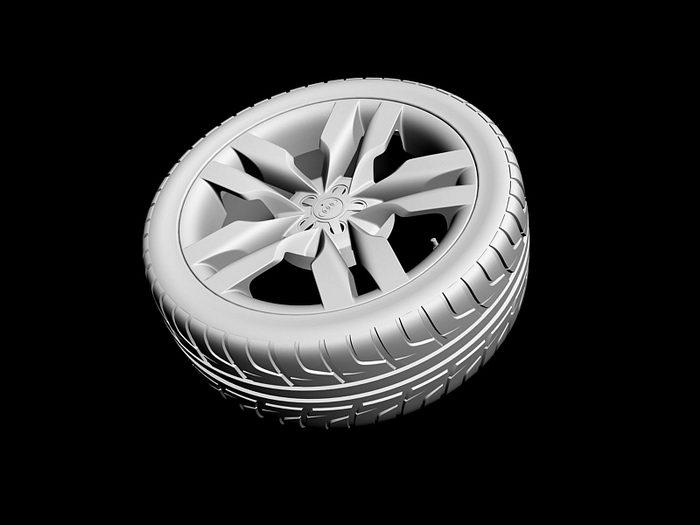 Audi S6 Wheel 3d rendering