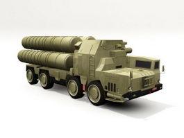 S-300-PM Missile TEL 3d model