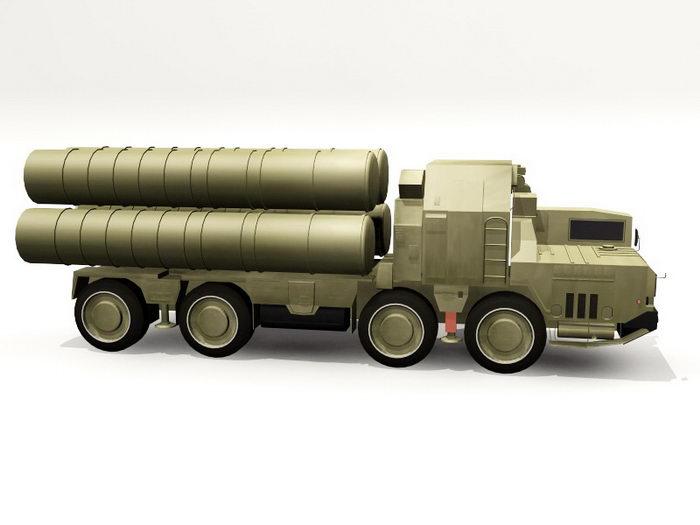 S-300-PM Missile TEL 3d rendering