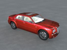 Chrysler 300 Red Sedan 3d model