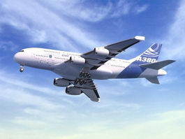 Airbus A380 3d model