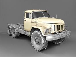 International Flatbed Truck 3d model