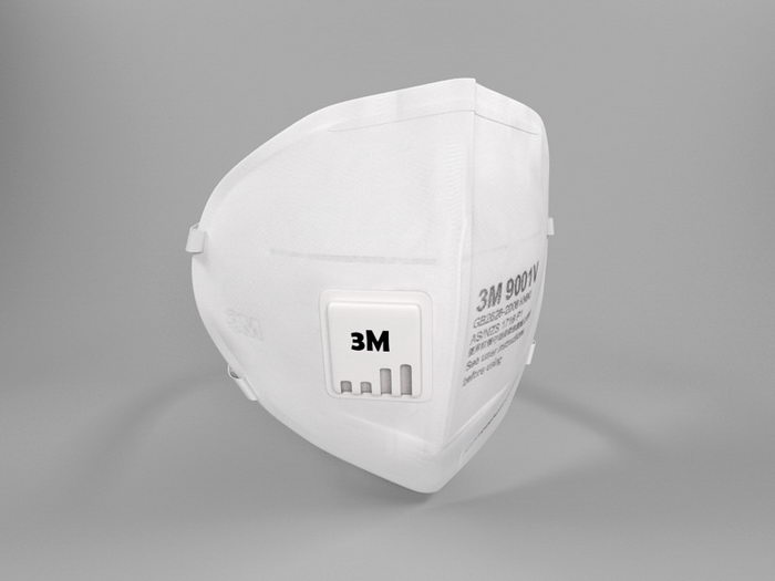 3M Face Mask 3d rendering