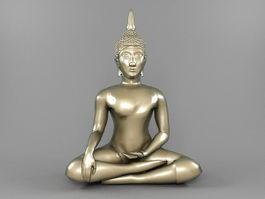 Thai Bodhisattva Statue 3d model