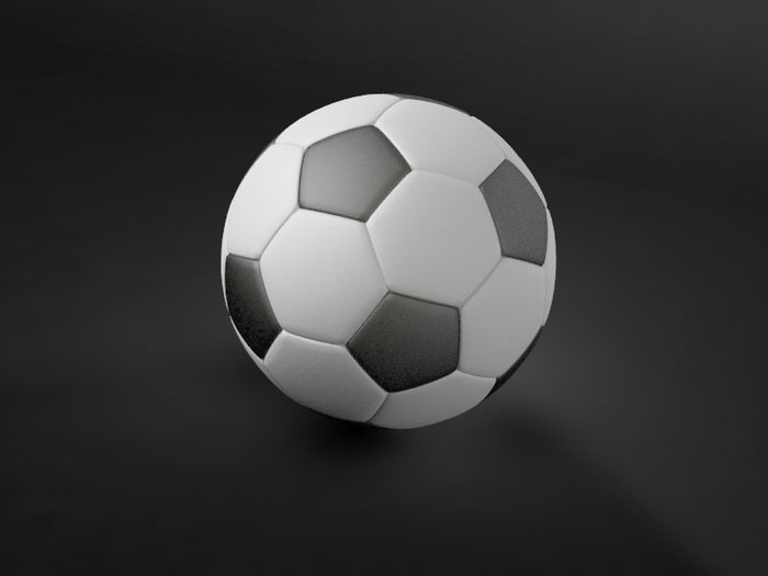 Football Soccer 3d rendering