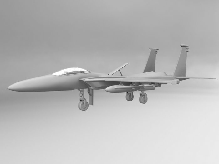 Fighter Aircraft 3d rendering
