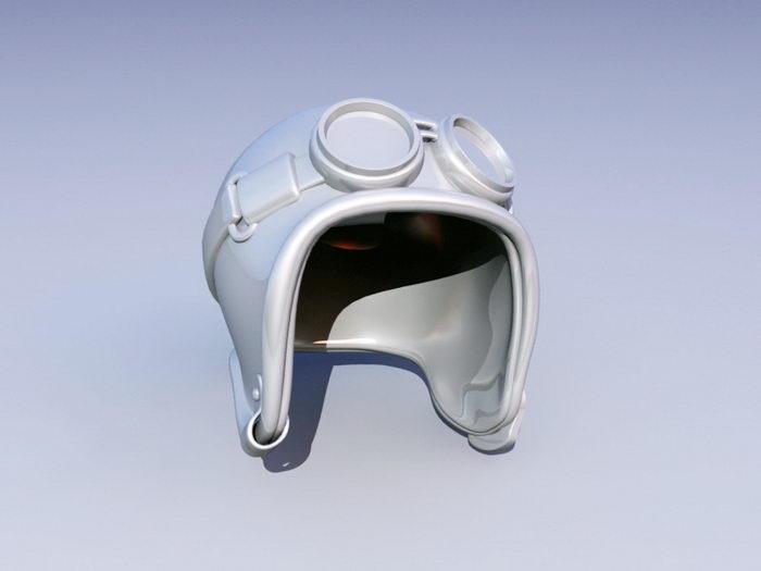 Aviator Hat 3d rendering