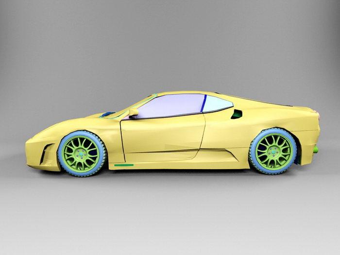 Ferrari F430 3d rendering