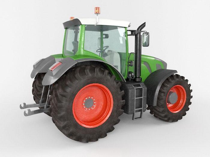 Farm Tractor 3d rendering