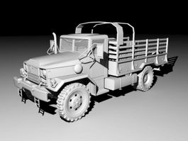 Vintage Army Truck 3d model