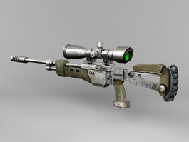 Cool Sniper Rifle 3d model