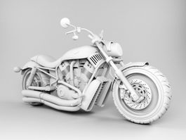 Harley-Davidson Cruiser Motorcycle 3d model