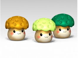 Cartoon Mushroom 3d model