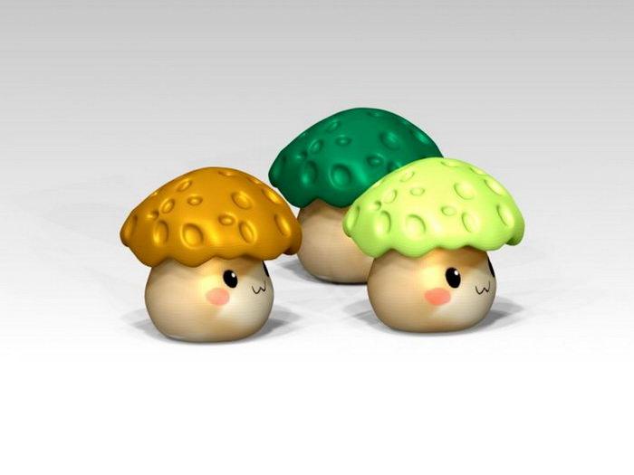 Cartoon Mushroom 3d rendering