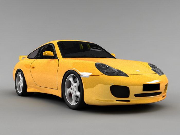 Porsche 991 GT3 3d rendering