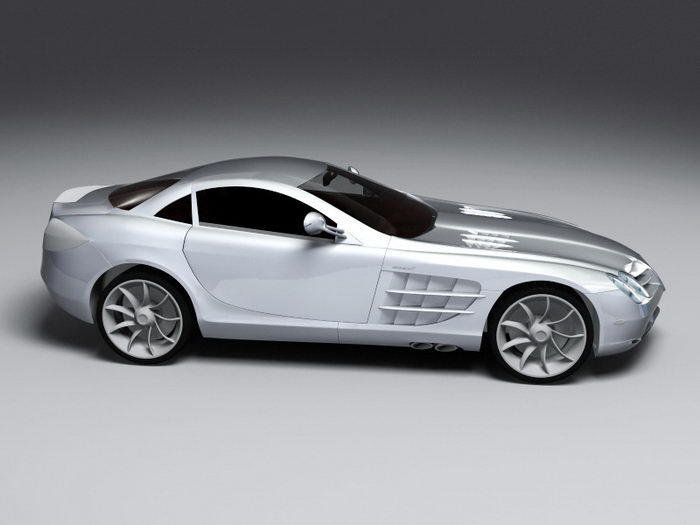 Mercedes-Benz SL-Class 3d rendering