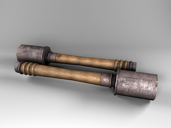 Stick Grenade 3d rendering