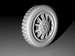 Truck Wheel 3d preview