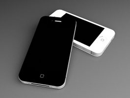 iPhone 4 Smartphones 3d model