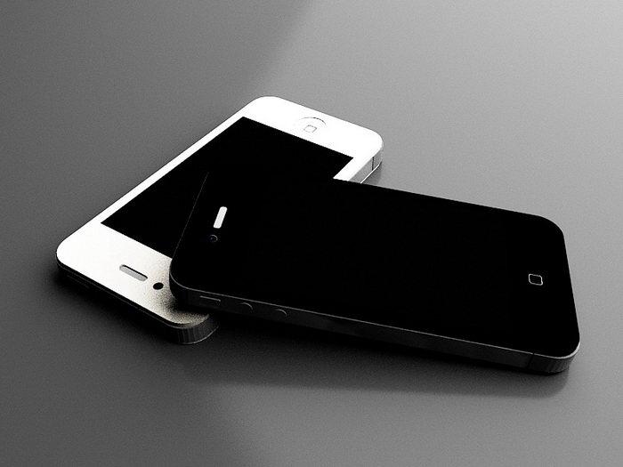 iPhone 4 Smartphones 3d rendering