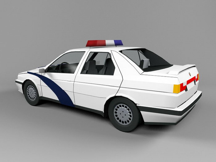 Police Car 3d rendering