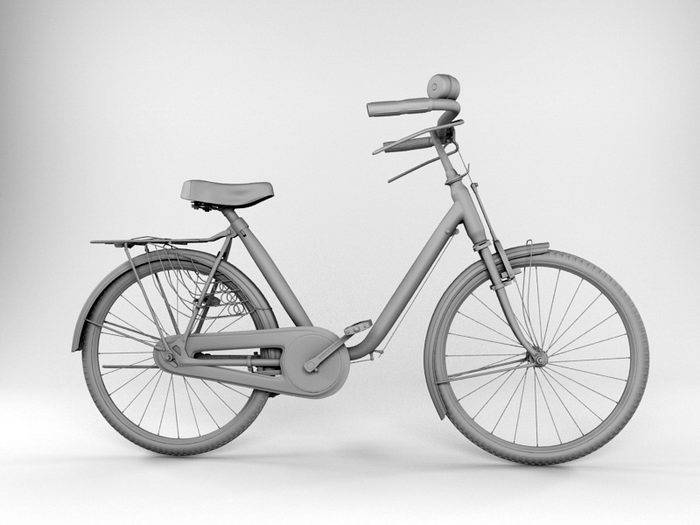 Classic Bicycle 3d rendering