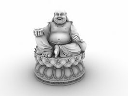 Fat Buddha Statue 3d model