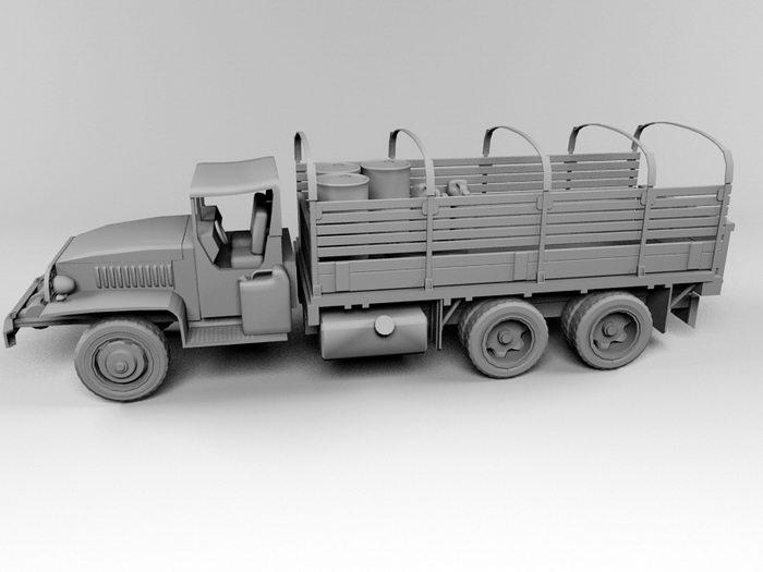 GMC Truck 3d rendering