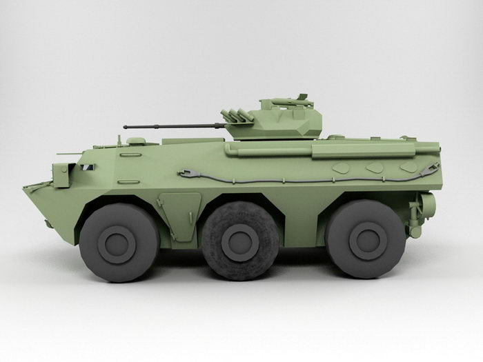 ZSL92 Wheeled Armored Personnel Carrier 3d rendering