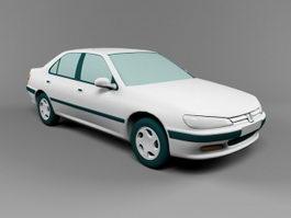 Peugeot Sedan Car 3d model