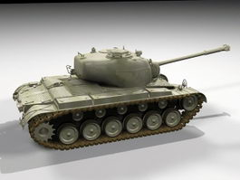 M26 Pershing Tank 3d model