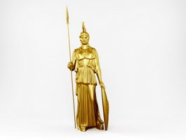 Statue of Pallas Athena 3d model