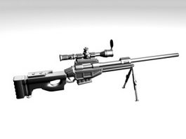 CS-LR4 Sniper Rifle 3d model