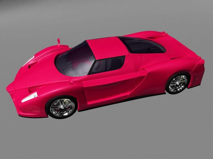Enzo Ferrari Berlinetta 3d rendering