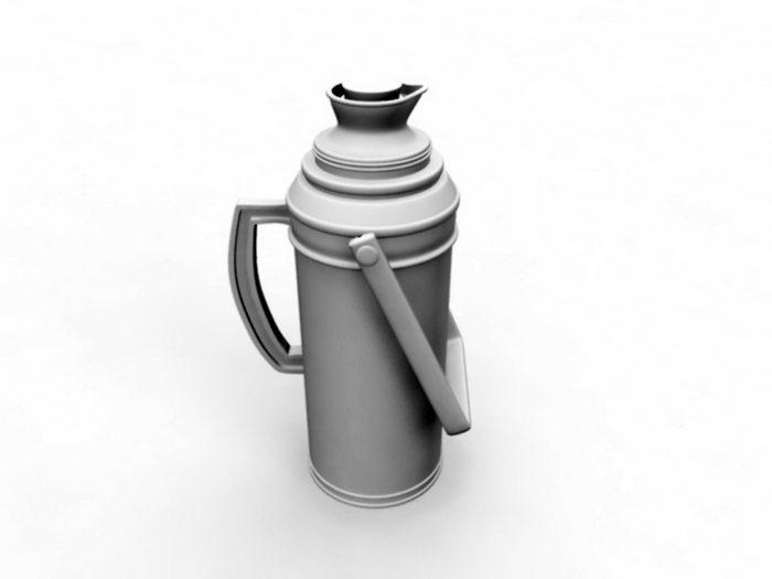 Vintage Thermos Bottle 3d rendering