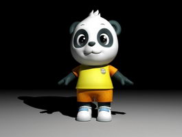 Cartoon Panda Rig 3d model