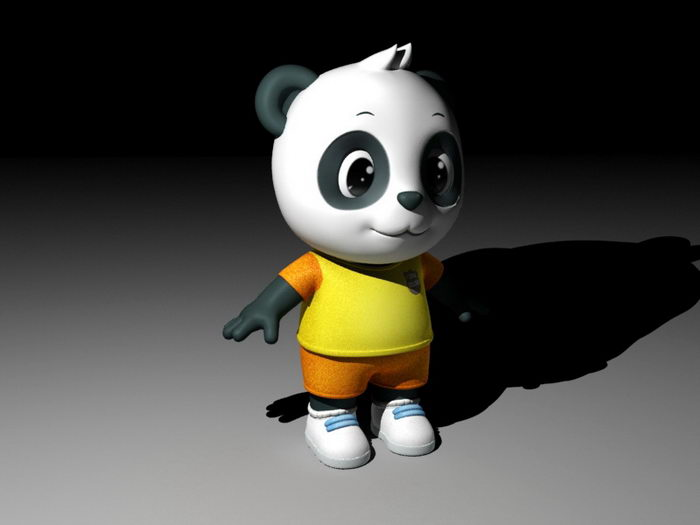 Cartoon Panda Rig 3d rendering