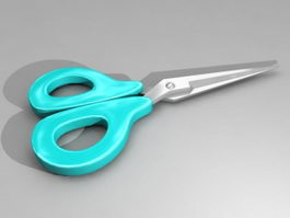 Blue Scissors 3d preview