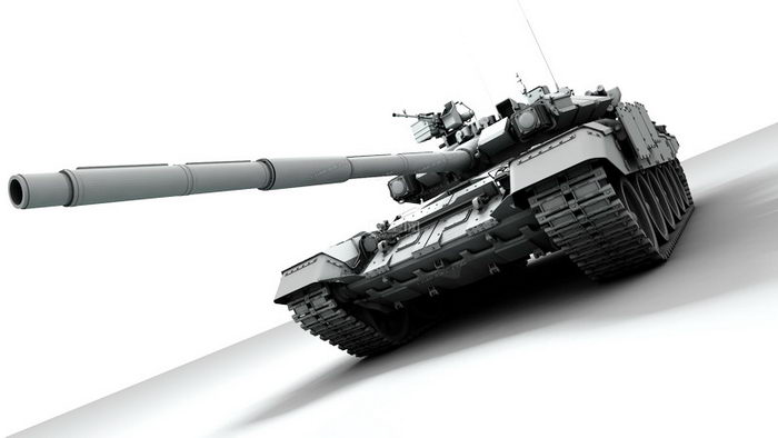 T-90 Tank 3d rendering