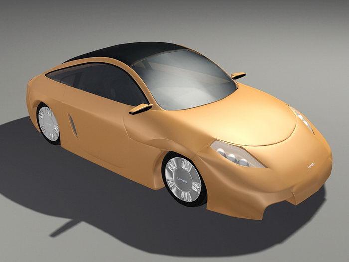 Loremo Car 3d rendering