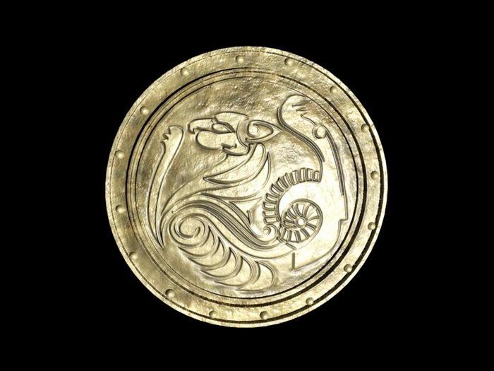 Medieval Lion Shield 3d rendering