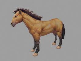 Beautiful Brown Horse 3d model