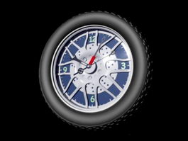 Wheel Wall Clock 3d model